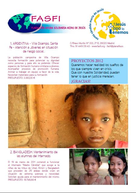 ¡PROYECTOS FASFI 2012!